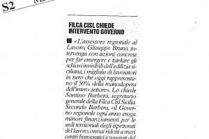 Filca Cisl Sicilia chiede intervento Governo